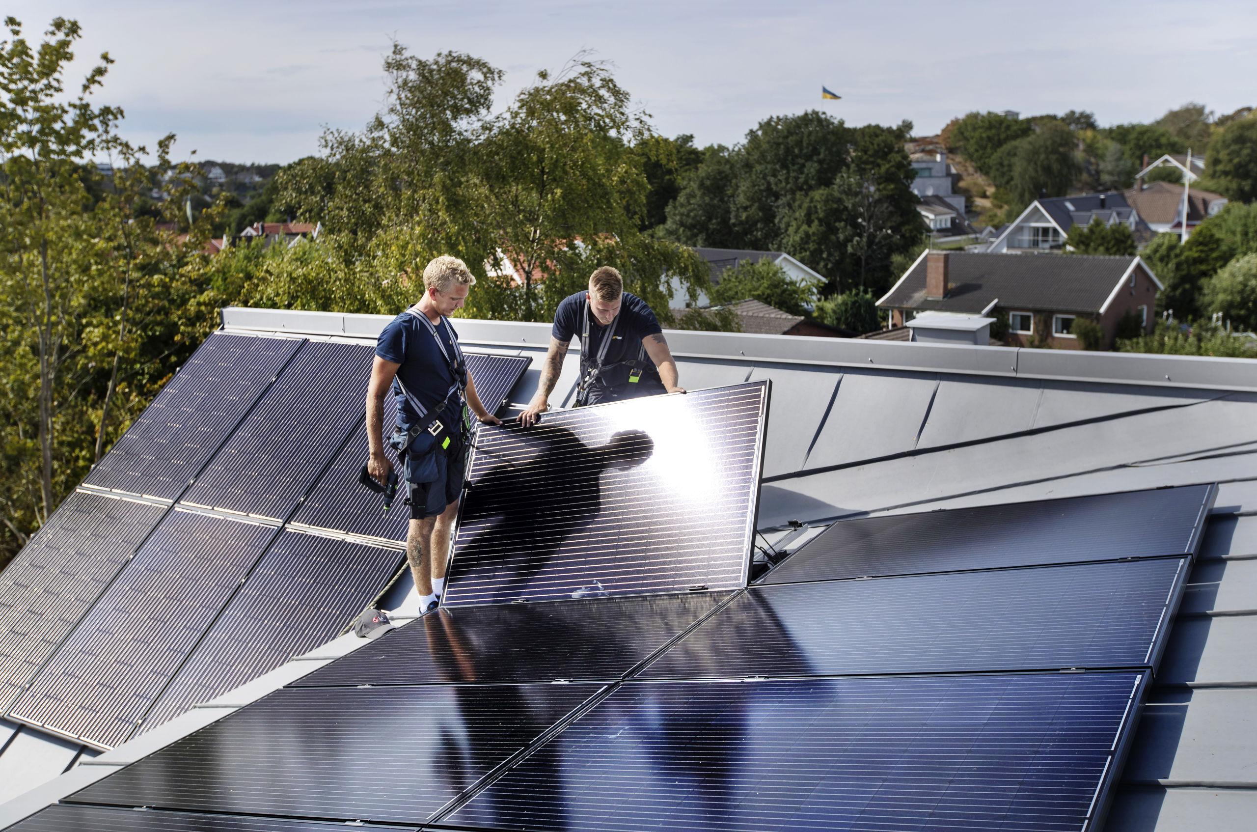 Data som krävs för solceller